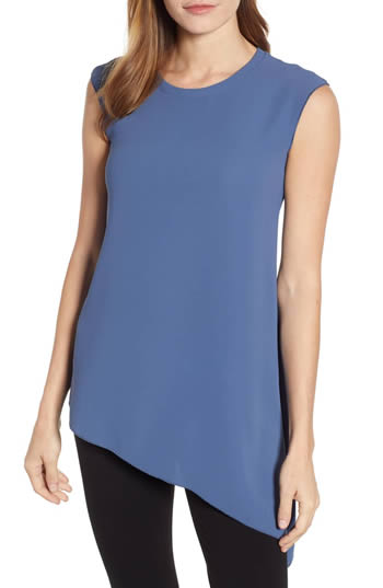 Hide your belly with an asymmetrical top | fashion over 40 | 40plusstyle.com