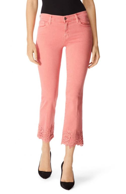 coral jeans for summer | 40plusstyle.com