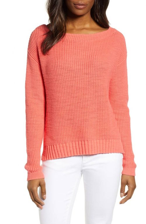 how to style a coral sweater | 40plusstyle.com