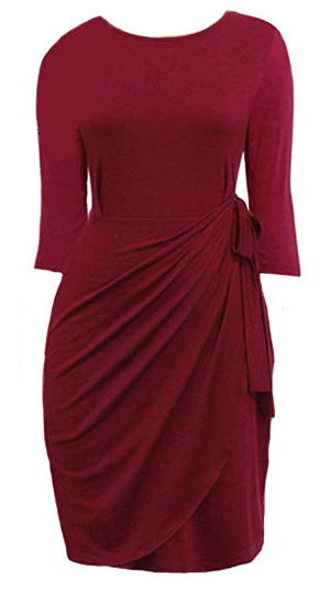 Draped dress that hides the belly | fashion over 40 | 40plusstyle.com