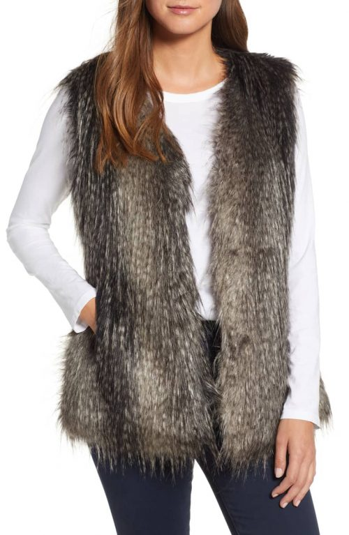 Faux fur vests for women over 40 | 40plusstyle.com
