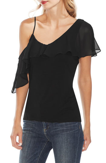 one shoulder top | 40plusstyle.com