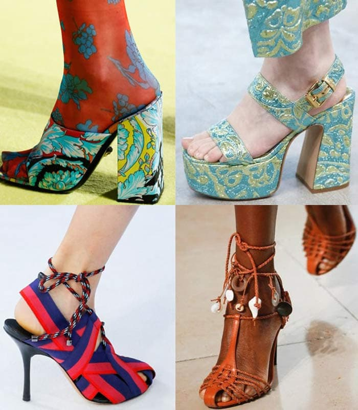 spring / summer 2019 shoe trends: The