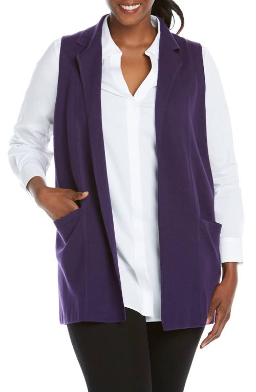 stylish sleeveless sweater vests for warmth AND style | 40plusstyle.com