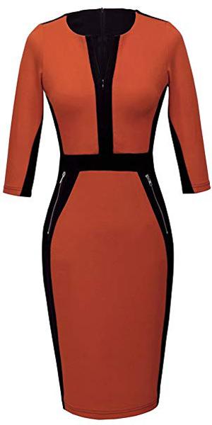 orange dress | 40plusstyle.com