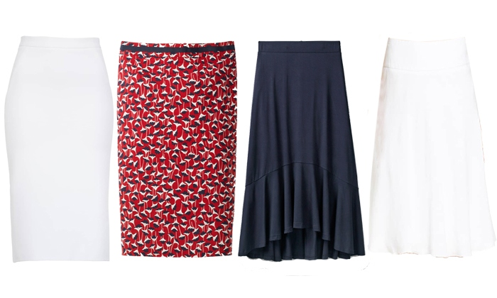 Skirts for rectangle body shape | fashion over 40 | style | fashion | 40plusstyle.com