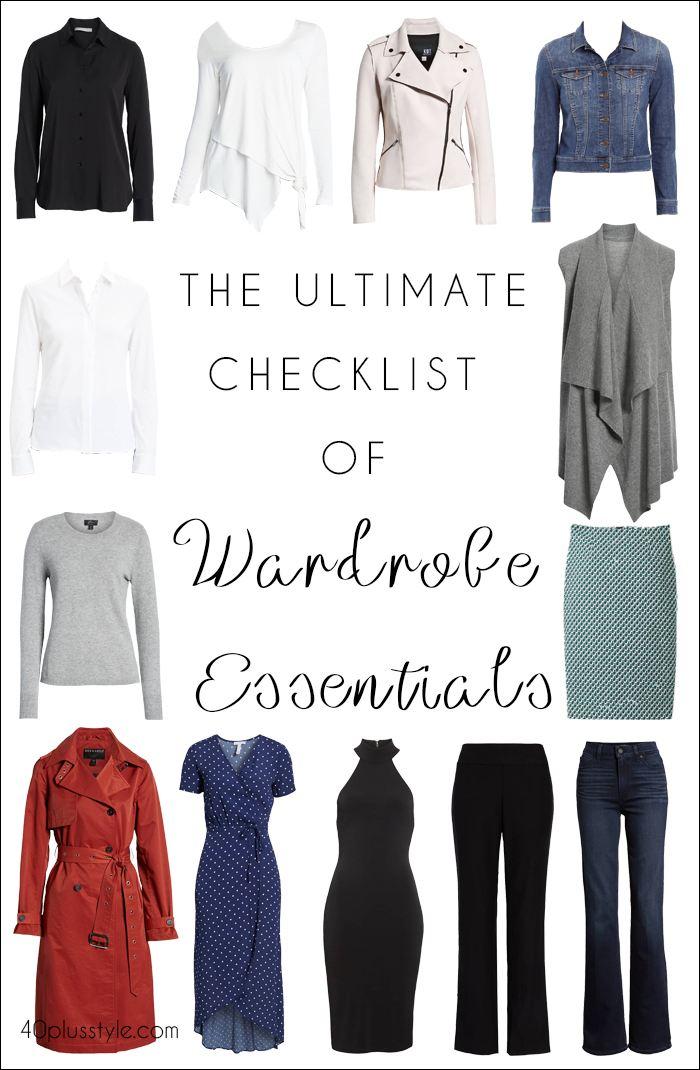 The ultimate checklist of wardrobe essentials | fashion over 40 | style | fashion | 40plusstyle.com