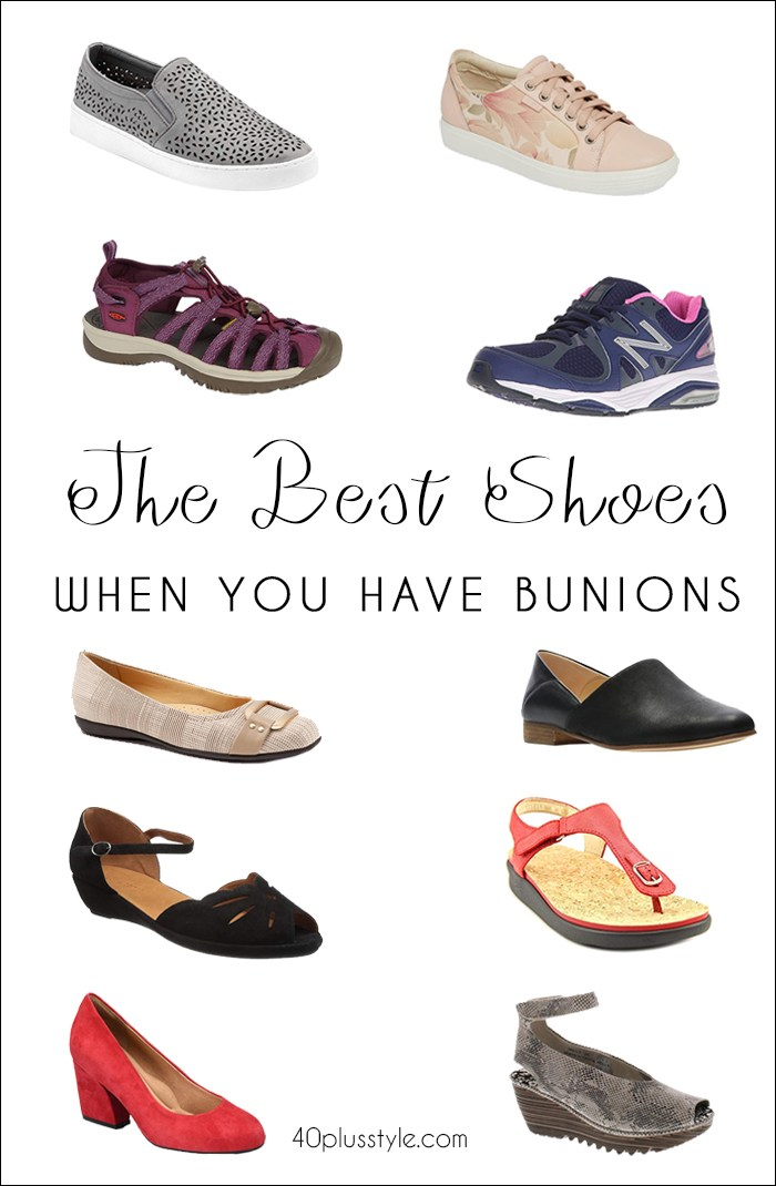 The best shoes to wear when you have bunions | fashion over 40 | style | fashion | 40plusstyle.com