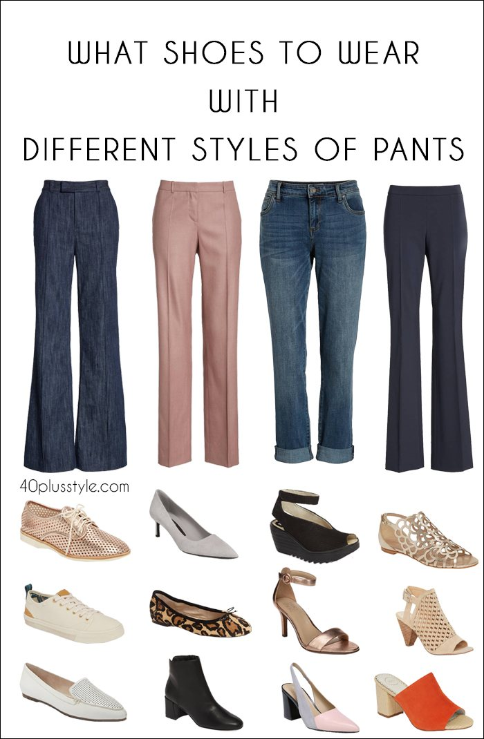 54381a497eb What shoes to wear with different styles of pants