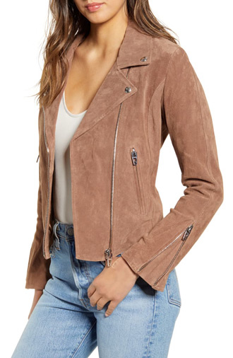 suede moto jacket | 40plusstyle.com