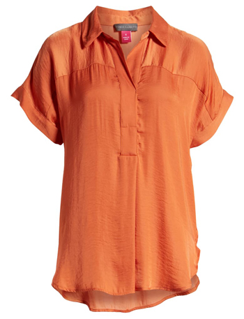 orange blouse | 40plusstyle.com