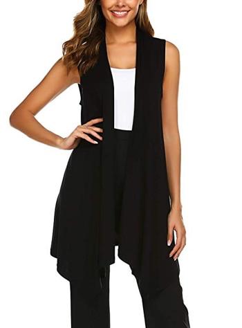 draped cardigan | 40plusstyle.com
