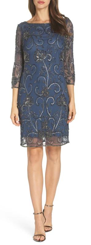 Embellished sheath dress   40plusstyle.com