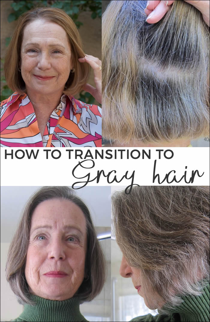 How to transition into gray hair | 40plusstyle.com