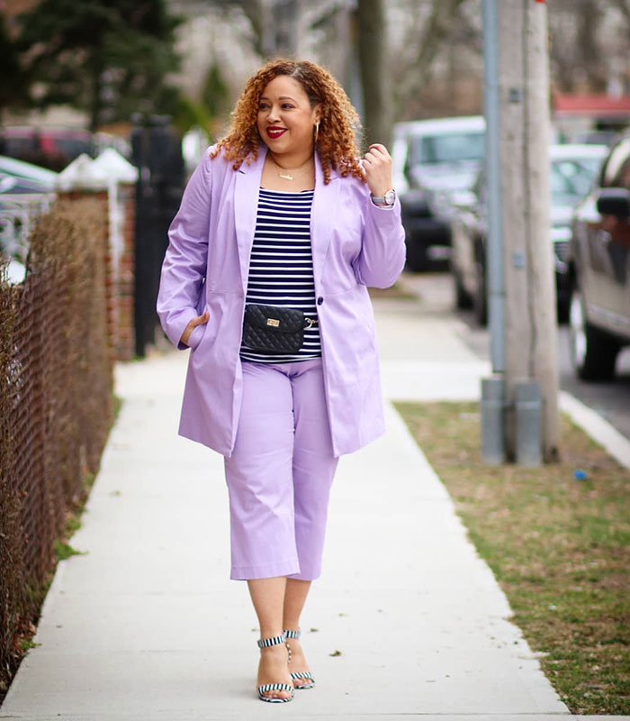 How to wear purple | 40plusstyle.com