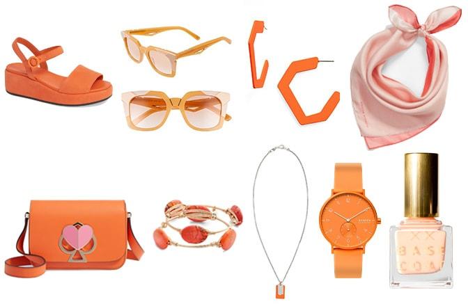 Stylish orange accesories | 40plusstyle.com
