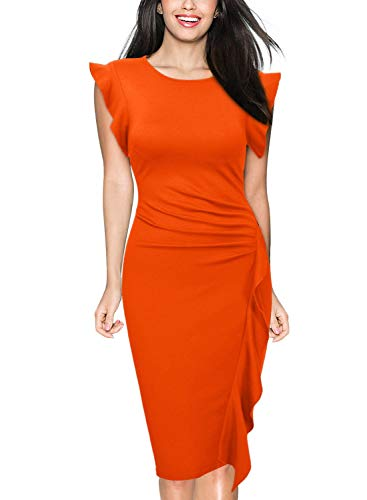 orange dresses for women over 40   40plusstyle.com
