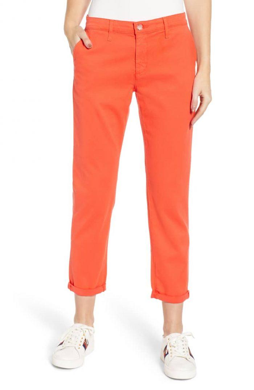 stylish and casual orange pants   40plusstyle.com