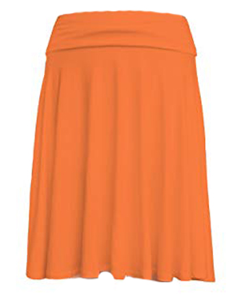 orange skirt | 40plusstyle.com