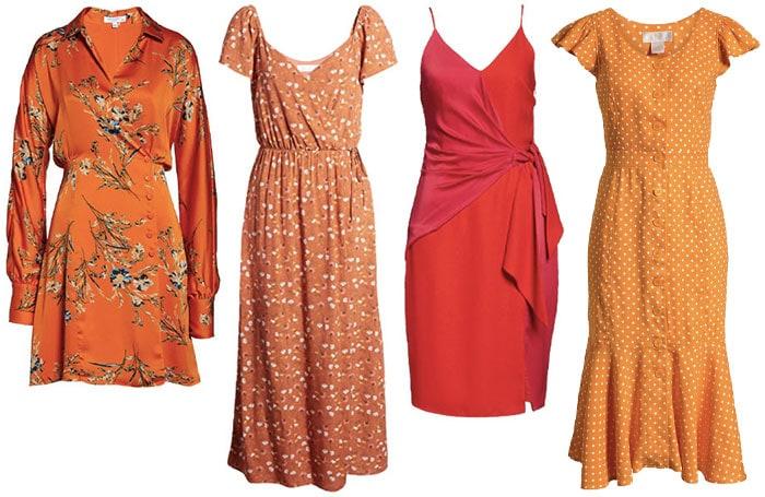 printed orange dresses | 40plusstyle.com