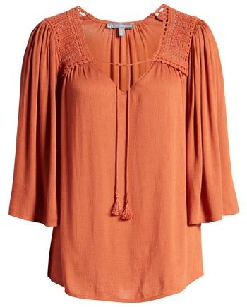 Crochet detail top | 40plusstyle.com