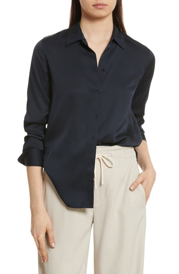 silk blouse | 40plusstyle.com