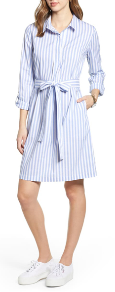 dress with vertical stripes | 40plusstyle.com