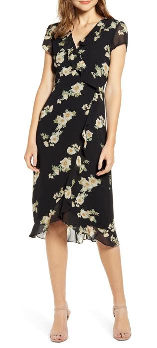 Floral print wrap dress | 40plusstyle.com