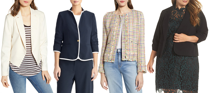 Cropped blazers | 40plusstyle.com