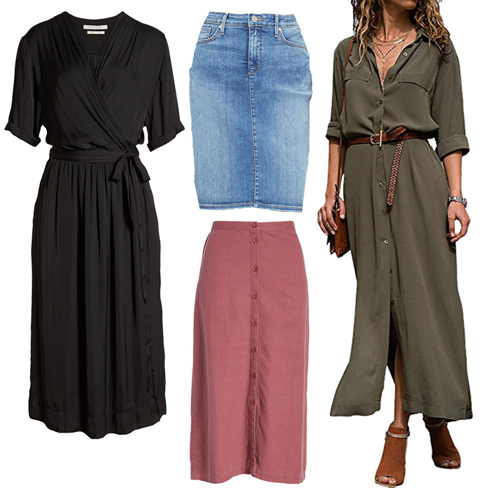 Casual Dresses & Skirts for the natural style personality   40plusstyle.com