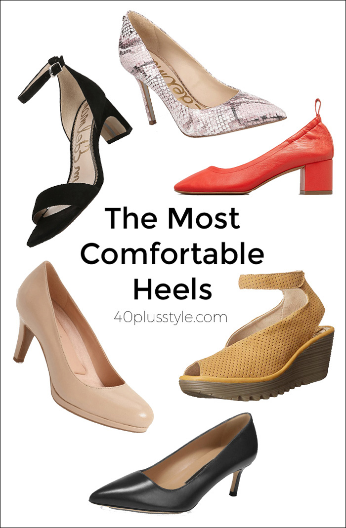 The Most Comfortable Heels | 40plusstyle.com