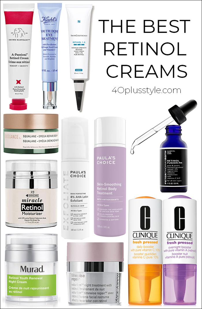 The best retinol creams for you | 40plusstyle.com