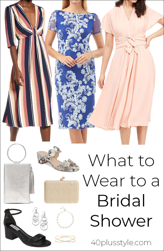 What to Wear to a Bridal Shower | 40plusstyle.com