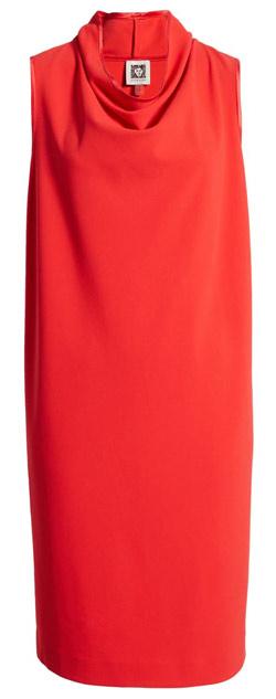 Anne Klein cowl neck dress   40plusstyle.com
