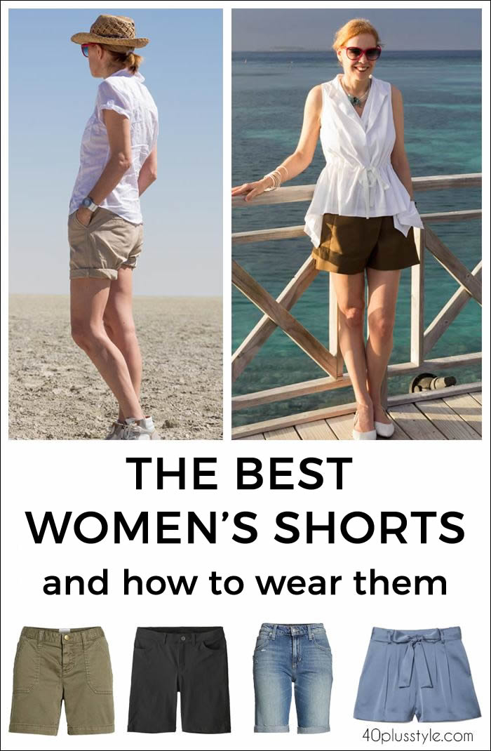 The best women's shorts and how to wear them | 40plusstyle.com