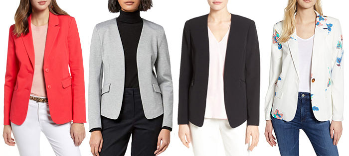 Traditional length blazers | 40plusstyle.com