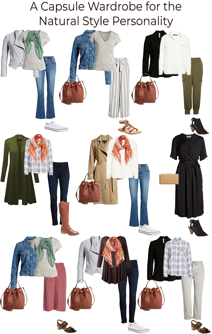 Capsule wardrobe for the natural style personality | 40plusstyle.com