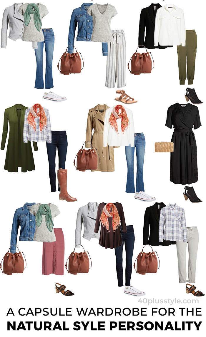Natural style personality capsule for transitional weather   40plusstyle.com