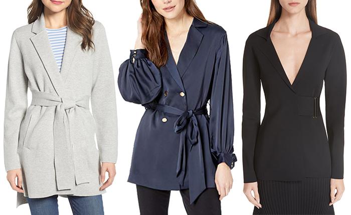 Stylish belted blazers | 40plusstyle.com