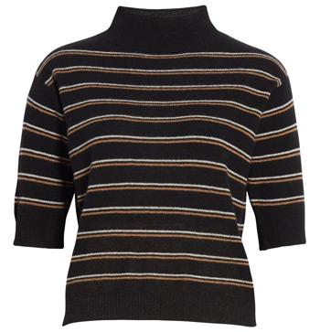 striped cashmere sweater | 40plusstyle.com