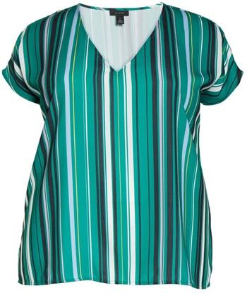 Halogen v-neck cap sleeves top | 40plusstyle.com