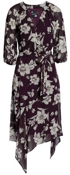 Maison Tara handkerchief hem dress | 40plusstyle.com