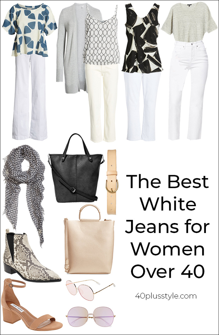 Best white jeans for women over 40 | 40plusstyle.com