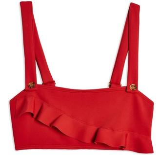 Topshop ruffle bikini top | 40plusstyle.com