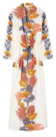 Tory Burch print cover-up caftan | 40plusstyle.com