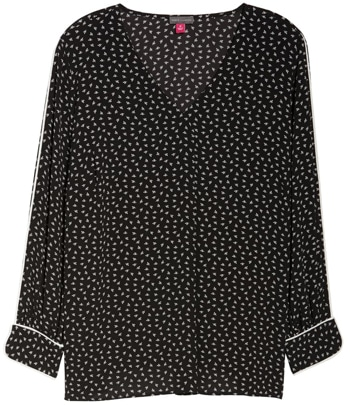 Vince Camuto v-neck blouse | 40plusstyle.com