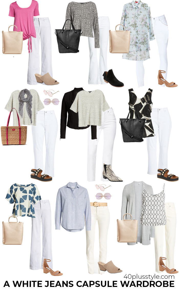 A white jeans capsule wadrobe | 40plusstyle.com