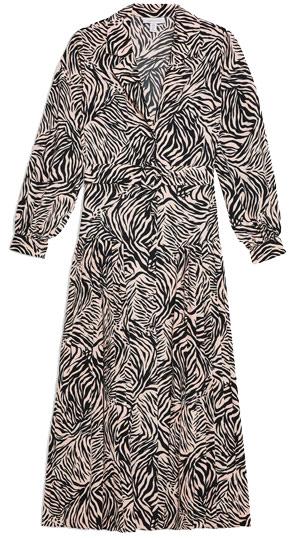 Topshop zebra print dress | 40plusstyle.com