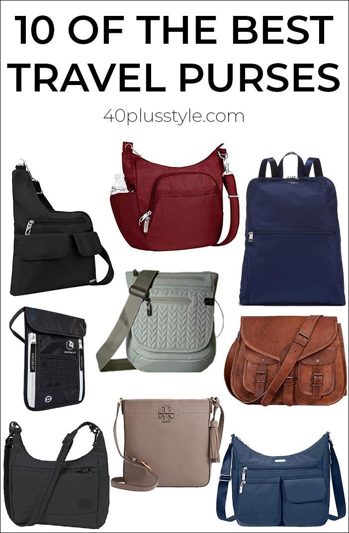 10 best travel purses for women | 40plusstyle.com