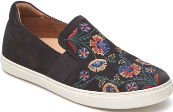 Cobb Hill Flower Embroidered Slip-On Sneaker | 40plusstyle.com